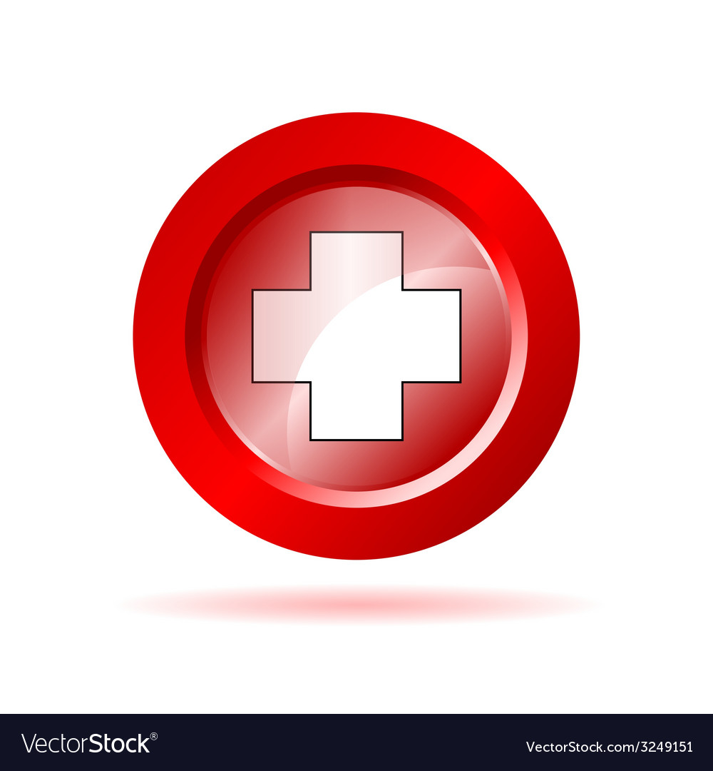 Red cross sign vector | Price: 1 Credit (USD $1)