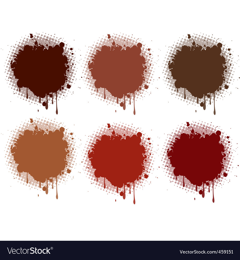 Splash brown collection vector | Price: 1 Credit (USD $1)