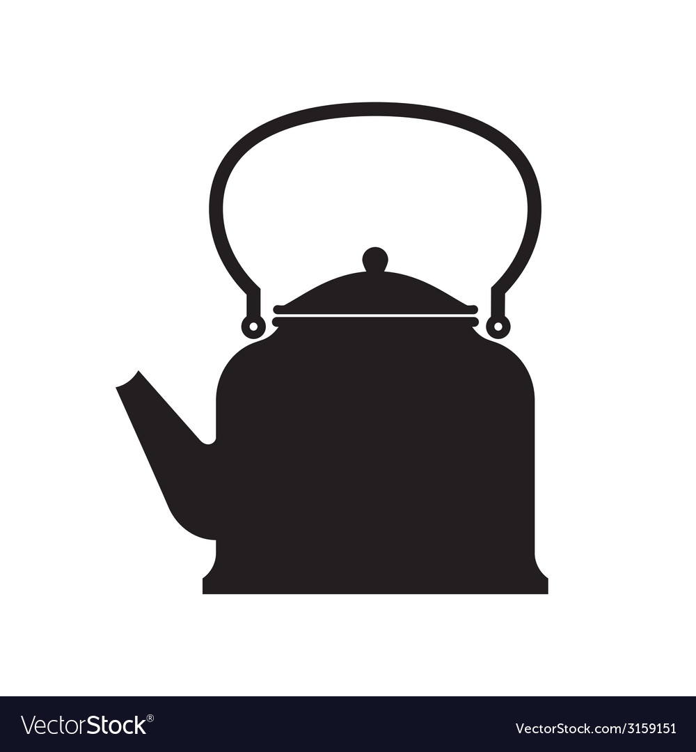 Tea pot isolated vector | Price: 1 Credit (USD $1)