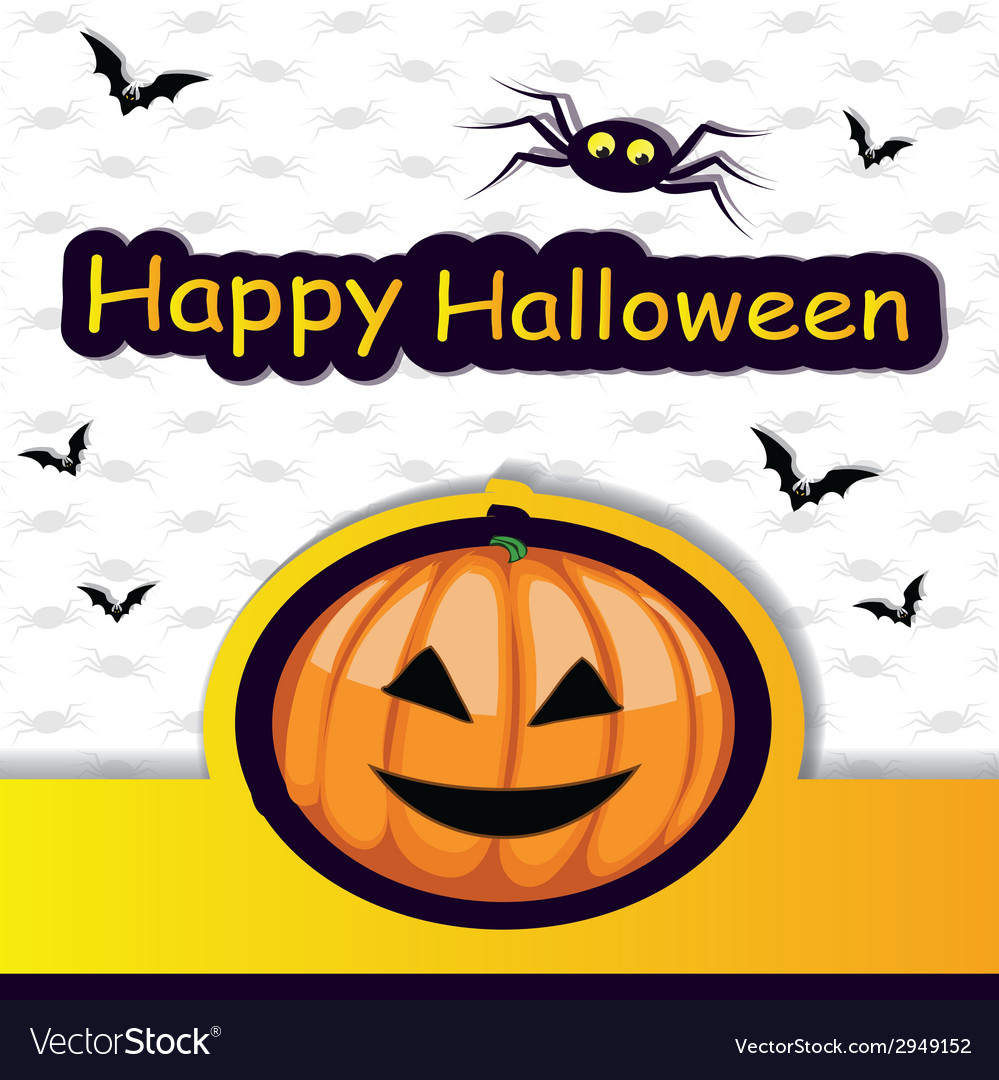 Halloween template frame for card vector | Price: 1 Credit (USD $1)