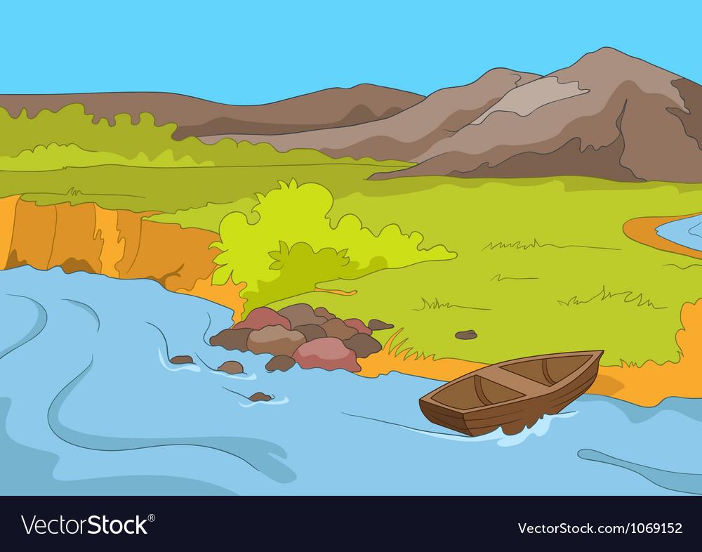 Lake shore vector | Price: 1 Credit (USD $1)