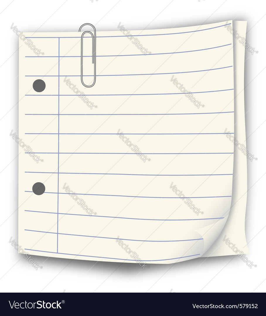 Notepaper vector | Price: 1 Credit (USD $1)