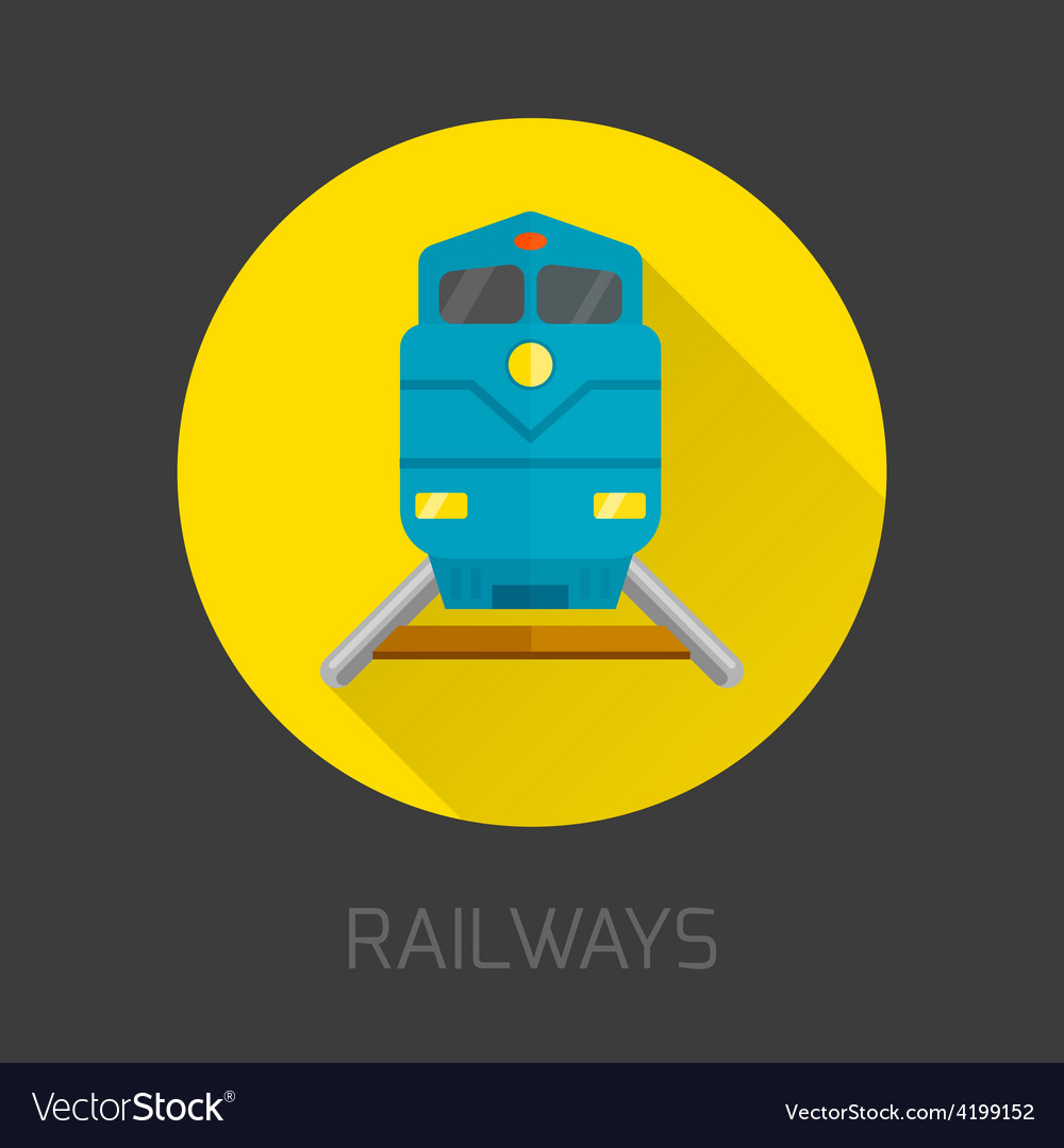 Railway flat icon vector   Price: 1 Credit (USD $1)