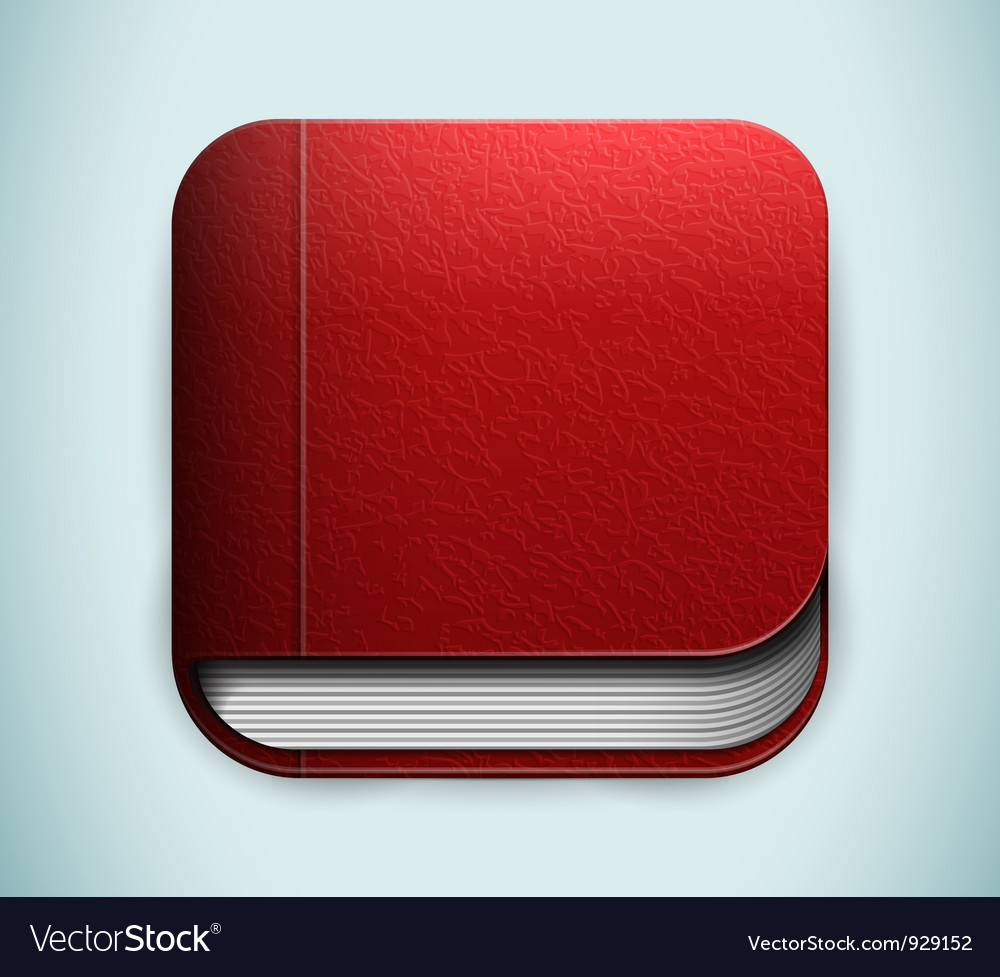 Red book icon vector | Price: 1 Credit (USD $1)