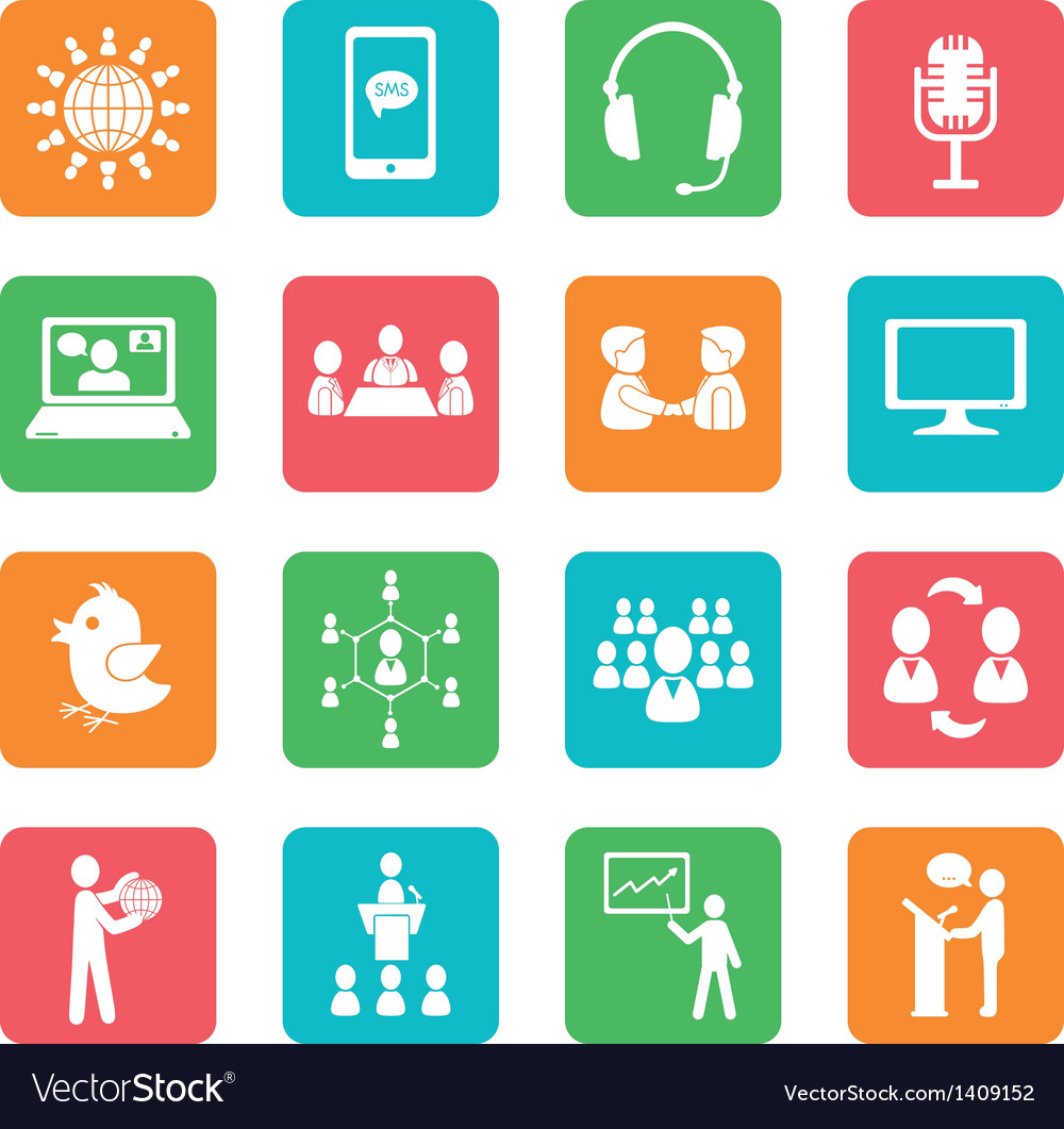 Set of communication icons vector | Price: 1 Credit (USD $1)