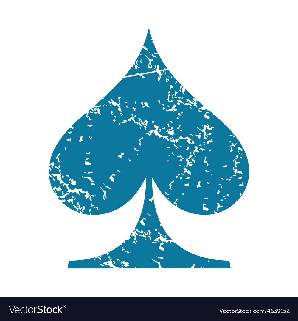 Spades grunge icon vector | Price: 1 Credit (USD $1)
