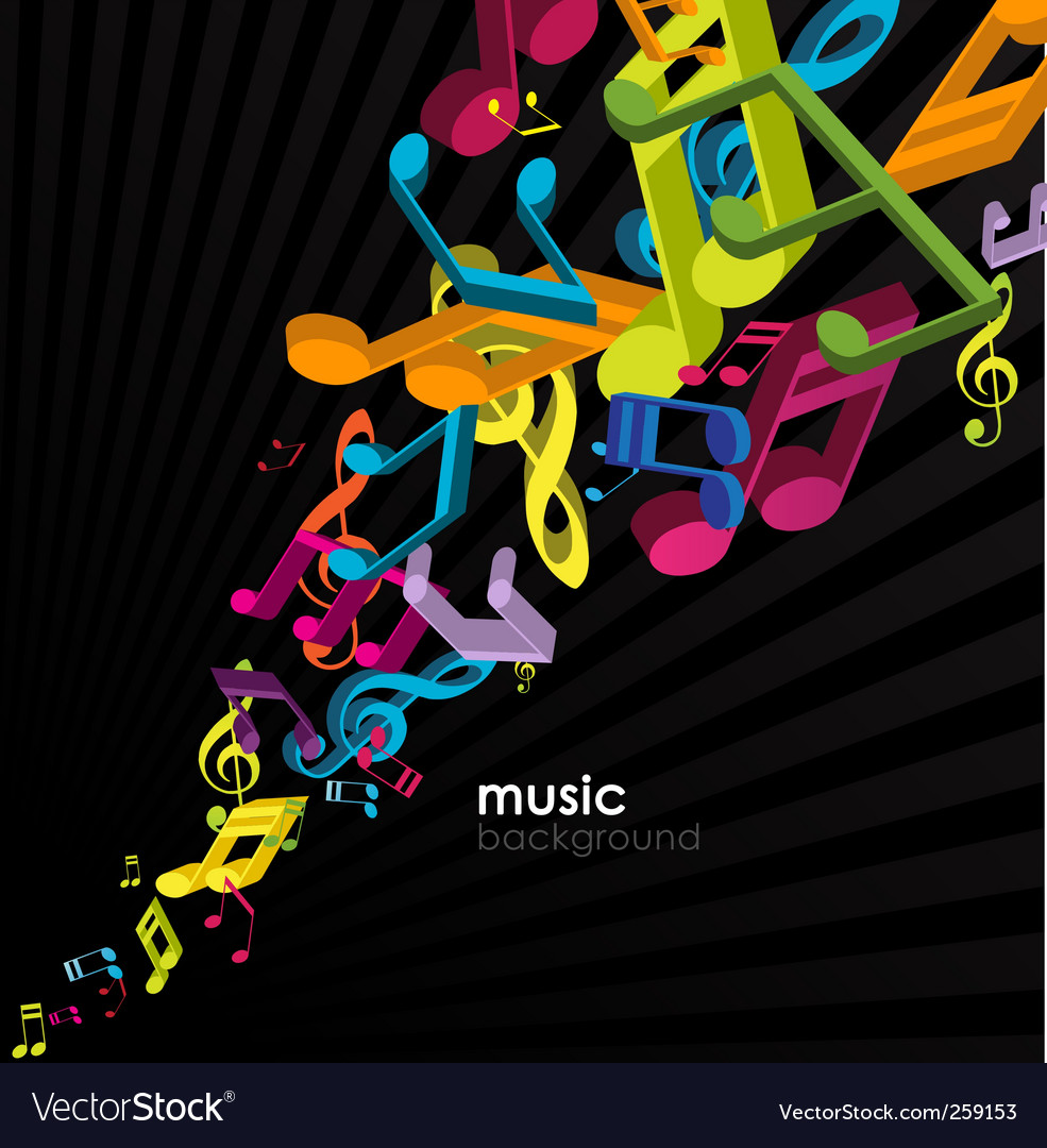 Abstract background with tunes vector | Price: 1 Credit (USD $1)