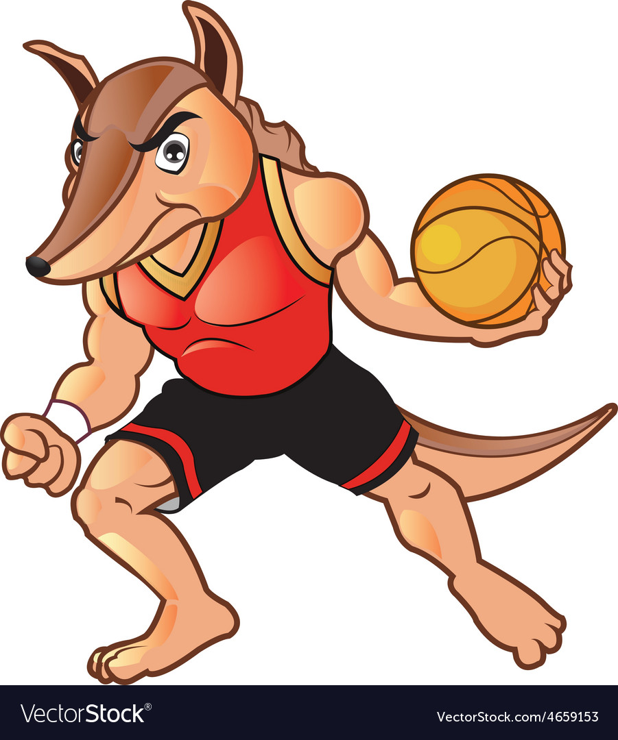 Basket ball armadillo vector | Price: 3 Credit (USD $3)