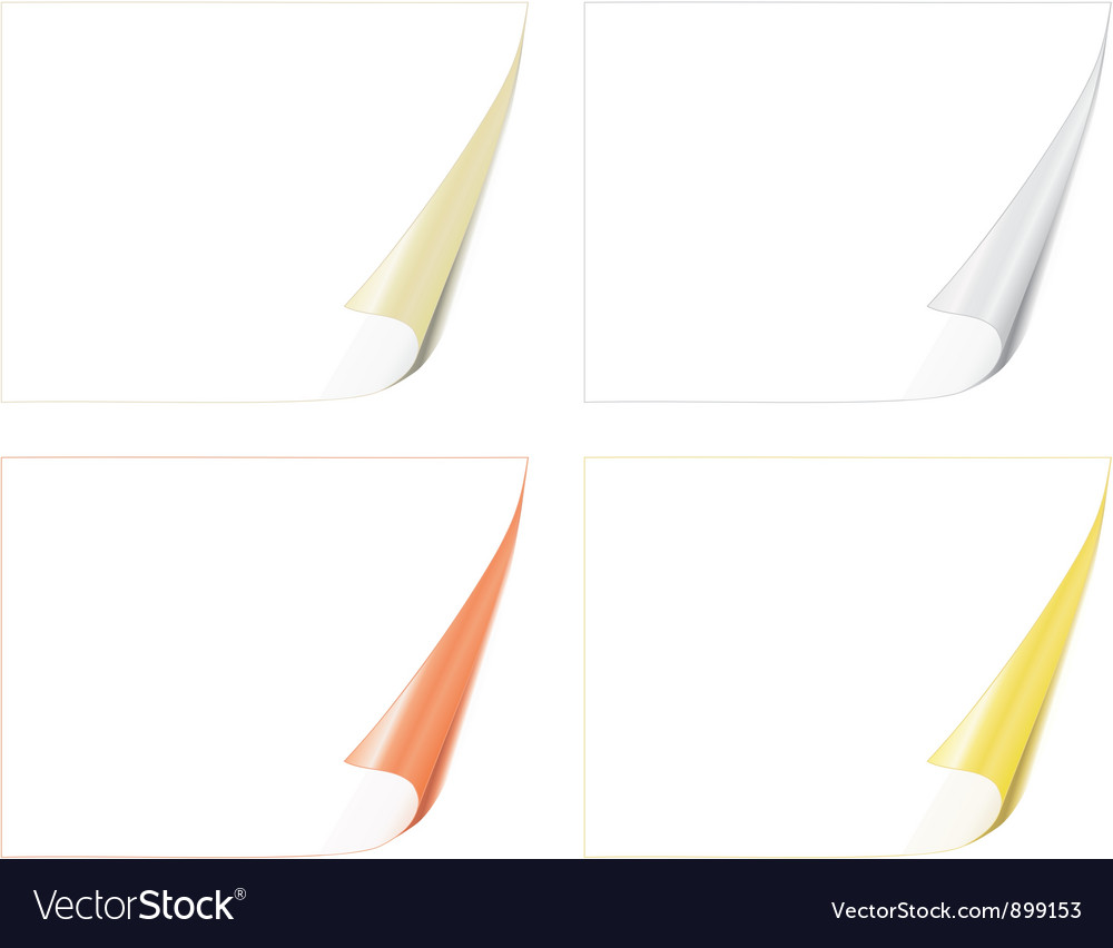 Bent paper pages vector | Price: 1 Credit (USD $1)