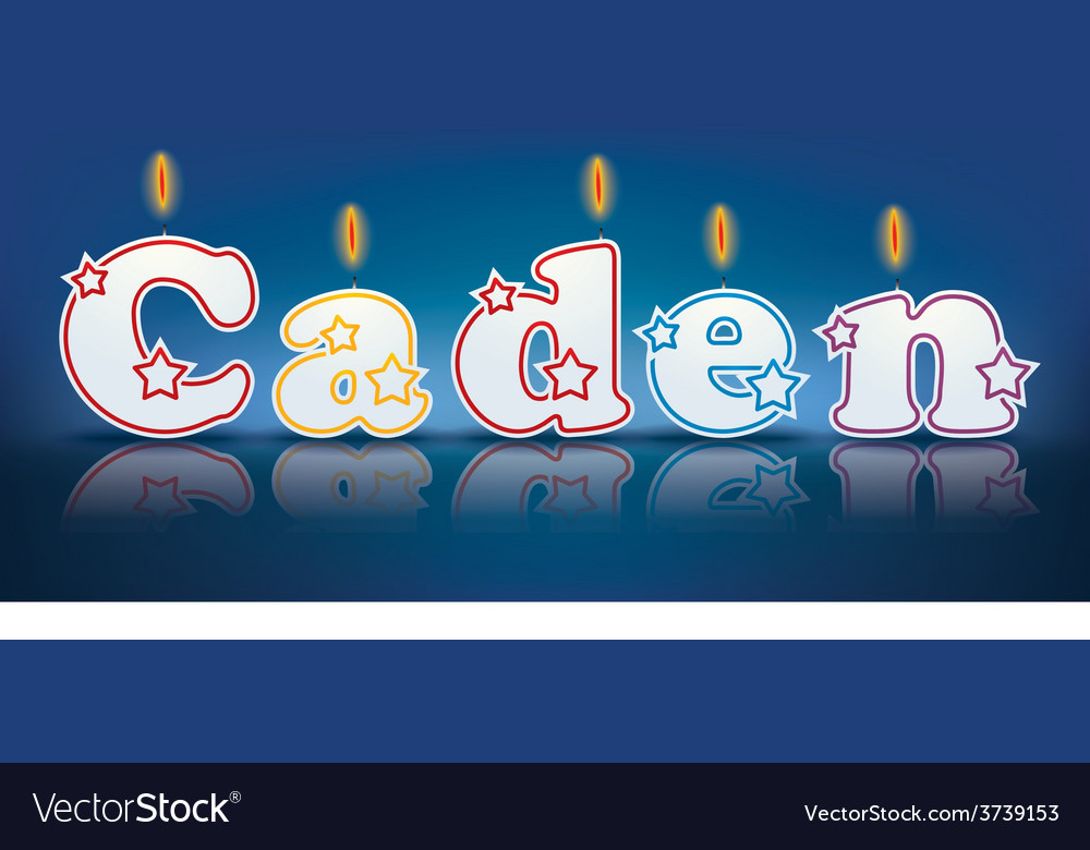 Caden written with burning candles vector | Price: 1 Credit (USD $1)