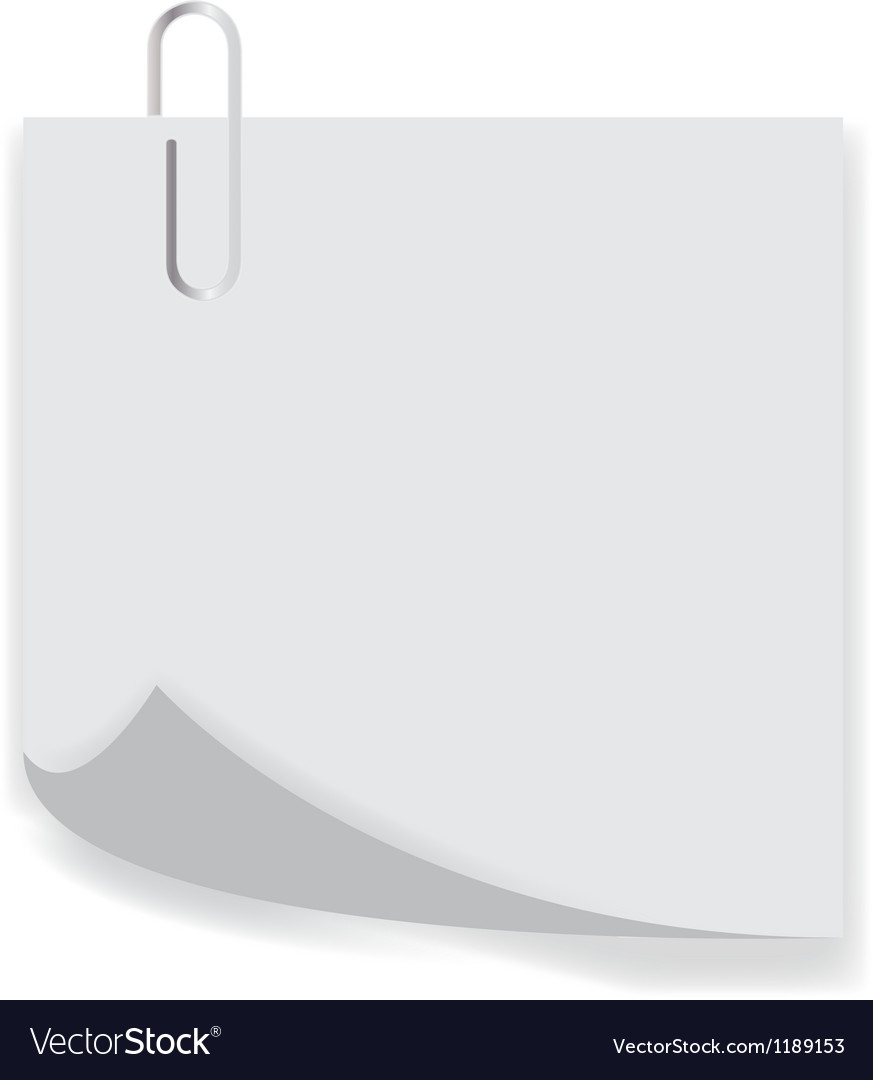 Clip on a paper list with curl vector | Price: 1 Credit (USD $1)