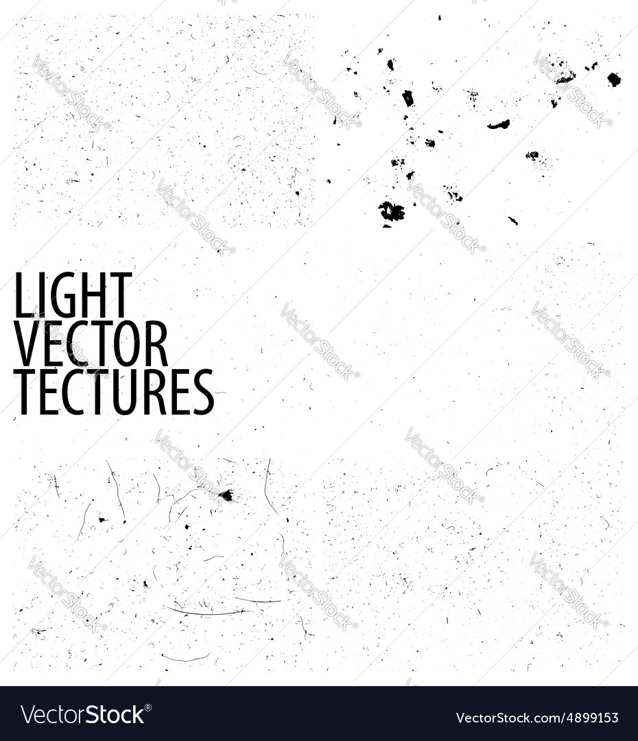 Collection of light grunge textures vector