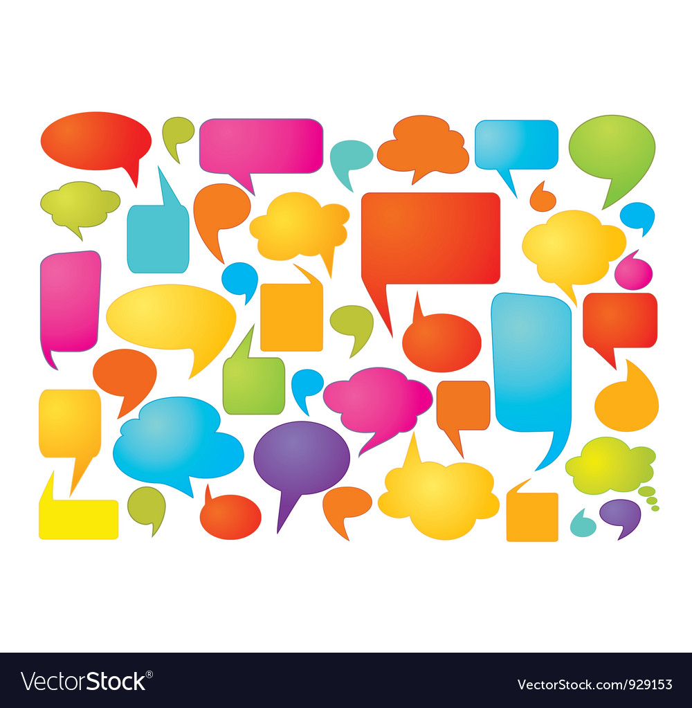 Colorful speech bubbles vector | Price: 1 Credit (USD $1)