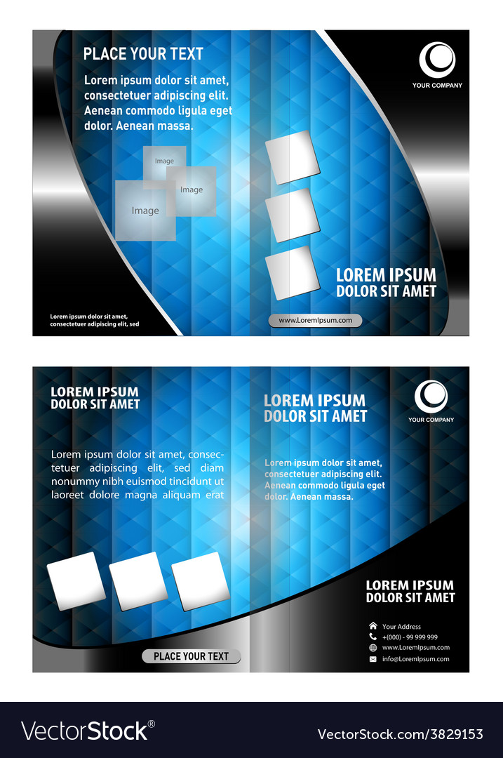 Leaflet brochure flyer booklet cover template vector | Price: 1 Credit (USD $1)