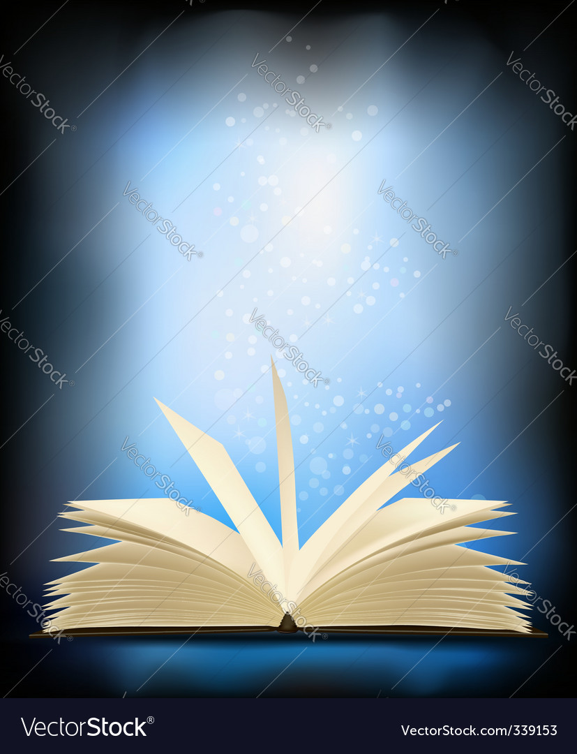 Magic book vector | Price: 1 Credit (USD $1)