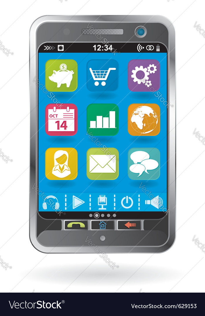Mobile smartphone vector | Price: 1 Credit (USD $1)