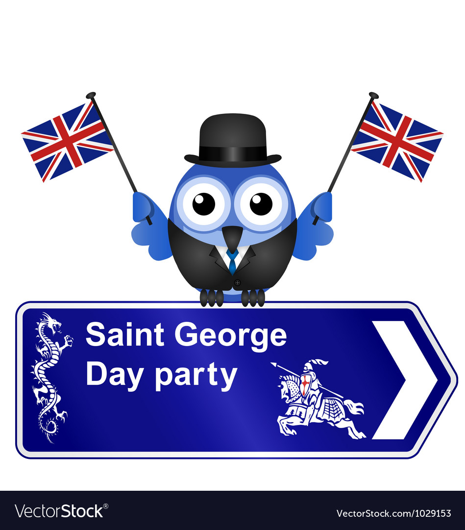 Saint george day sign vector | Price: 1 Credit (USD $1)