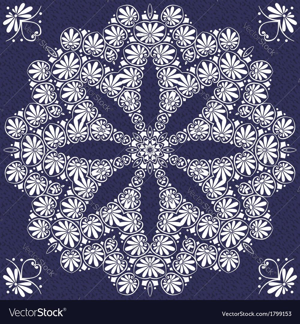 Vintage elegant lace snowflake vector | Price: 1 Credit (USD $1)