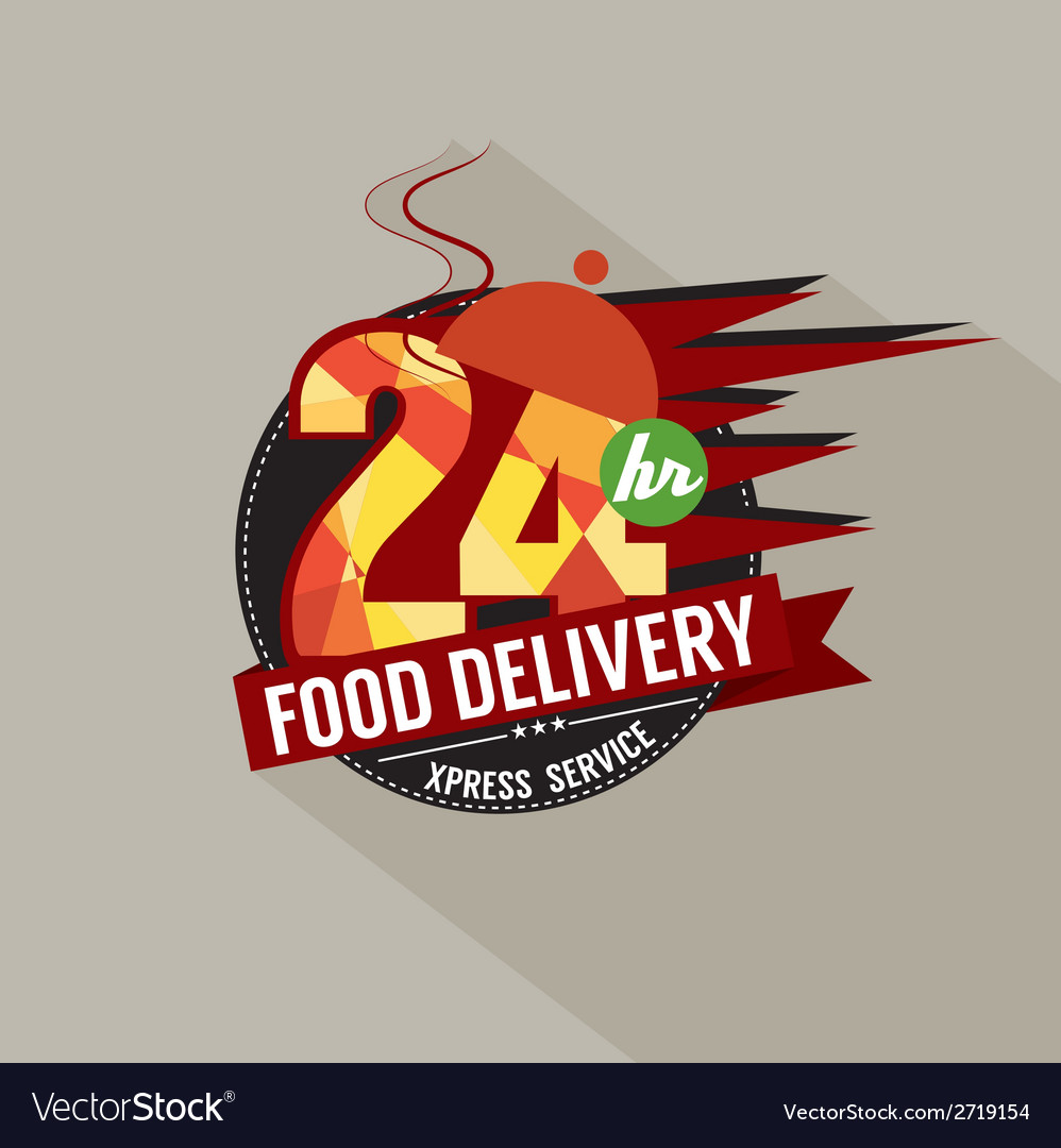 24 hours food delivery service vector | Price: 1 Credit (USD $1)