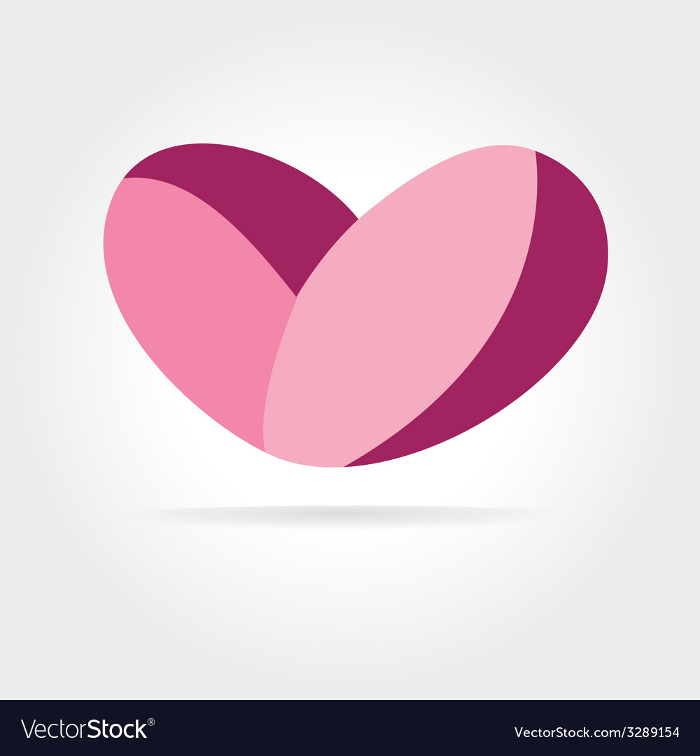 Abstract heart isolated on white background vector | Price: 1 Credit (USD $1)