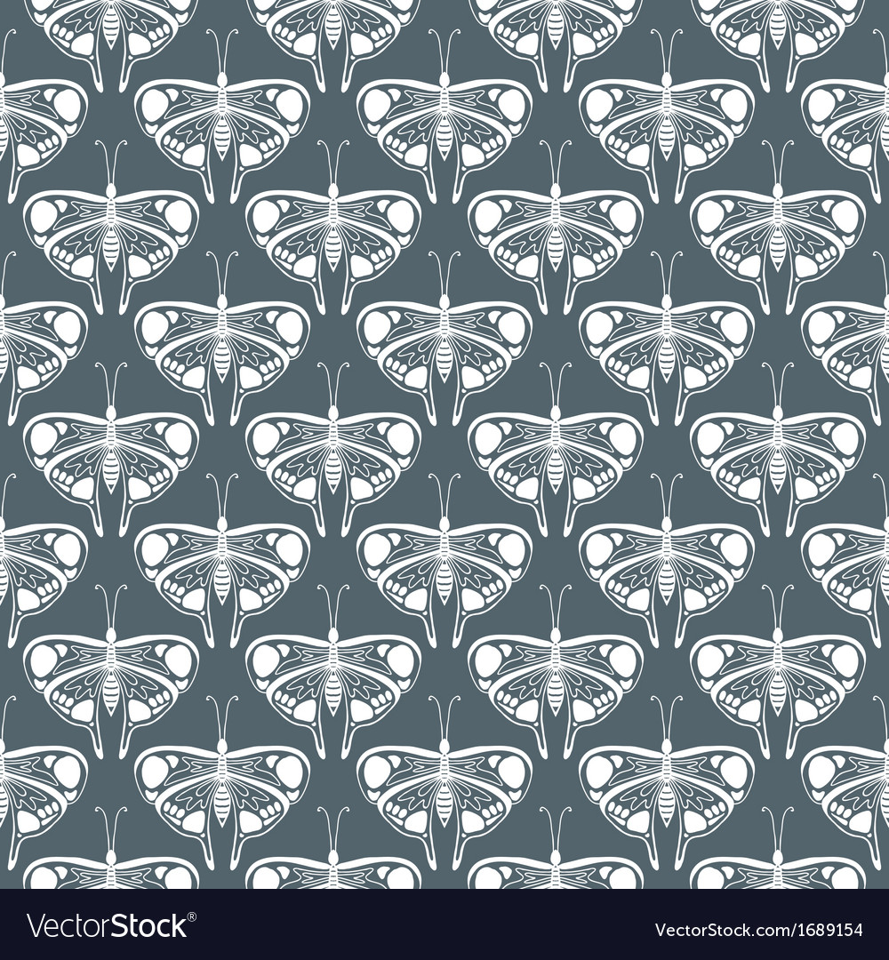 Art deco pattern with butterflies vector | Price: 1 Credit (USD $1)