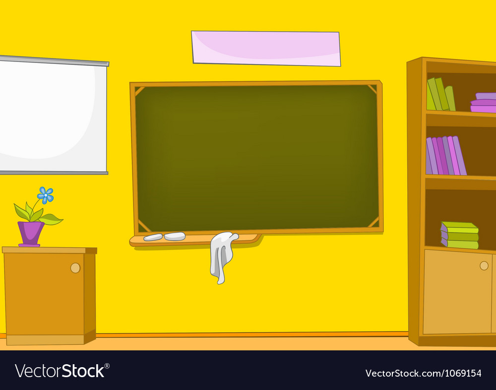 Classroom cartoon vector | Price: 1 Credit (USD $1)