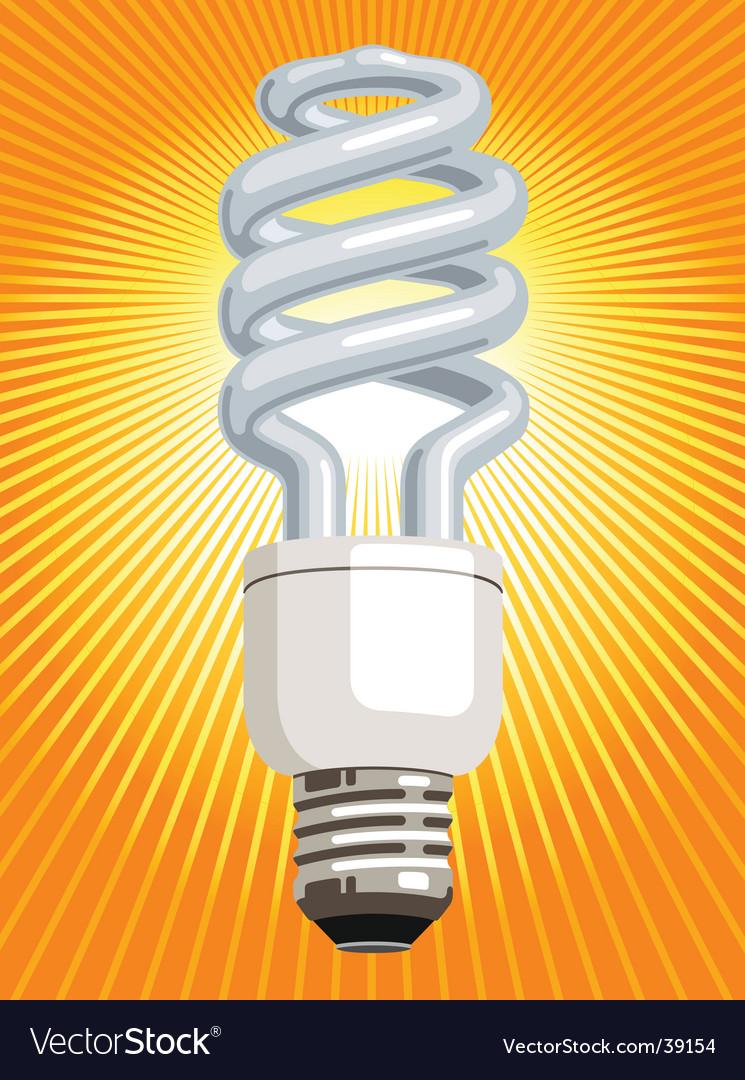 Energy saver light bulb vector | Price: 1 Credit (USD $1)