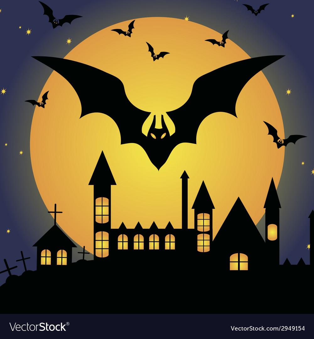 Halloween template frame vector | Price: 1 Credit (USD $1)