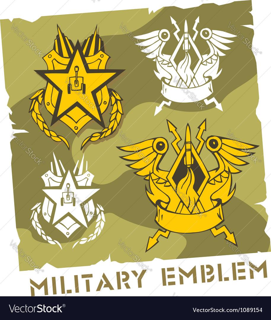 Military emblem - set vector | Price: 1 Credit (USD $1)