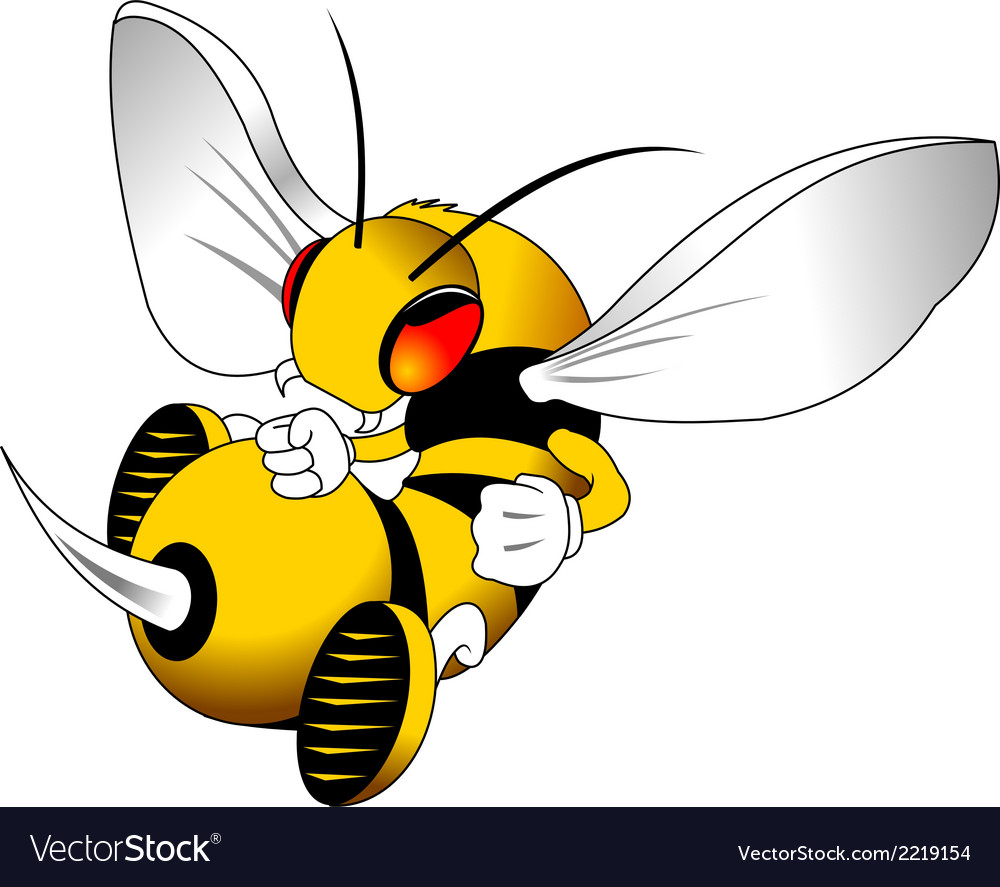 Wasp cartoon vector | Price: 1 Credit (USD $1)