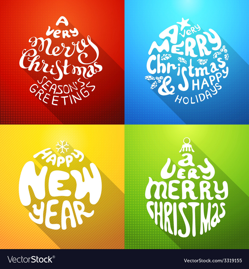 A very merry christmas and happy new year vector   Price: 1 Credit (USD $1)