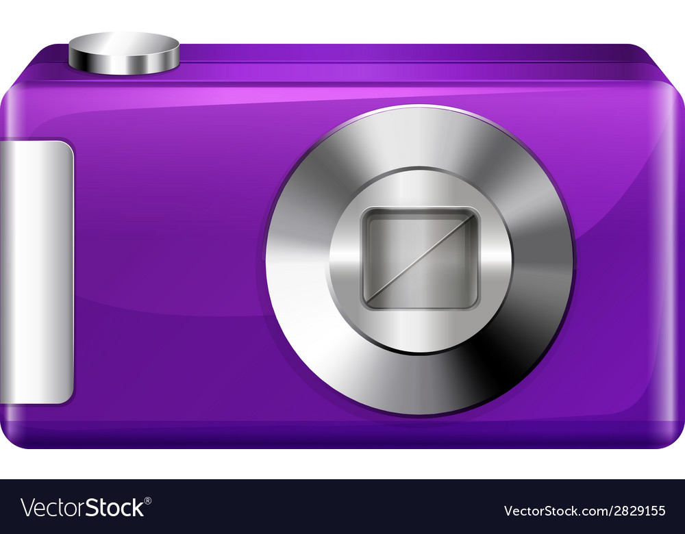 A violet digital camera vector | Price: 1 Credit (USD $1)