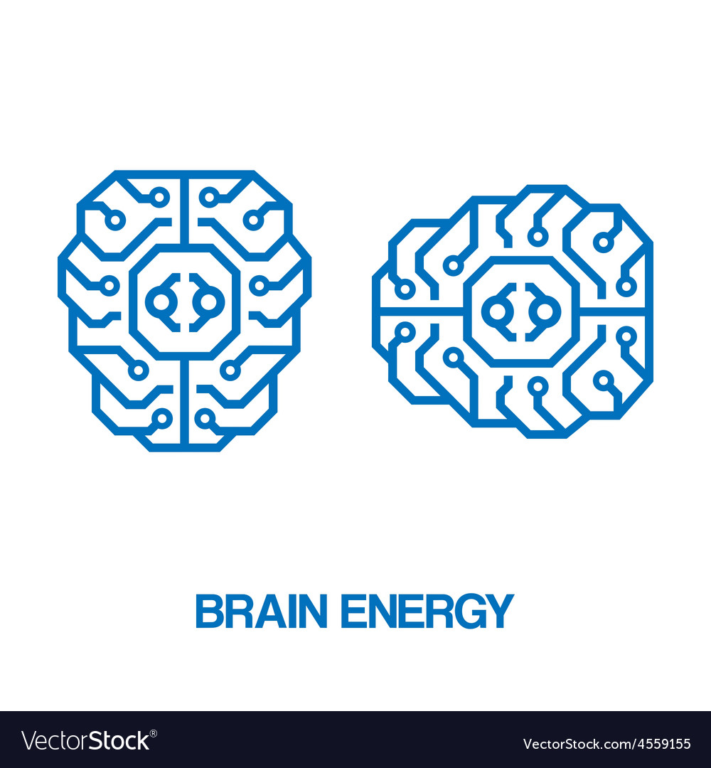 Brain energy sign vector | Price: 1 Credit (USD $1)