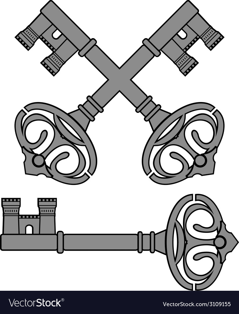 Castle key vector | Price: 1 Credit (USD $1)