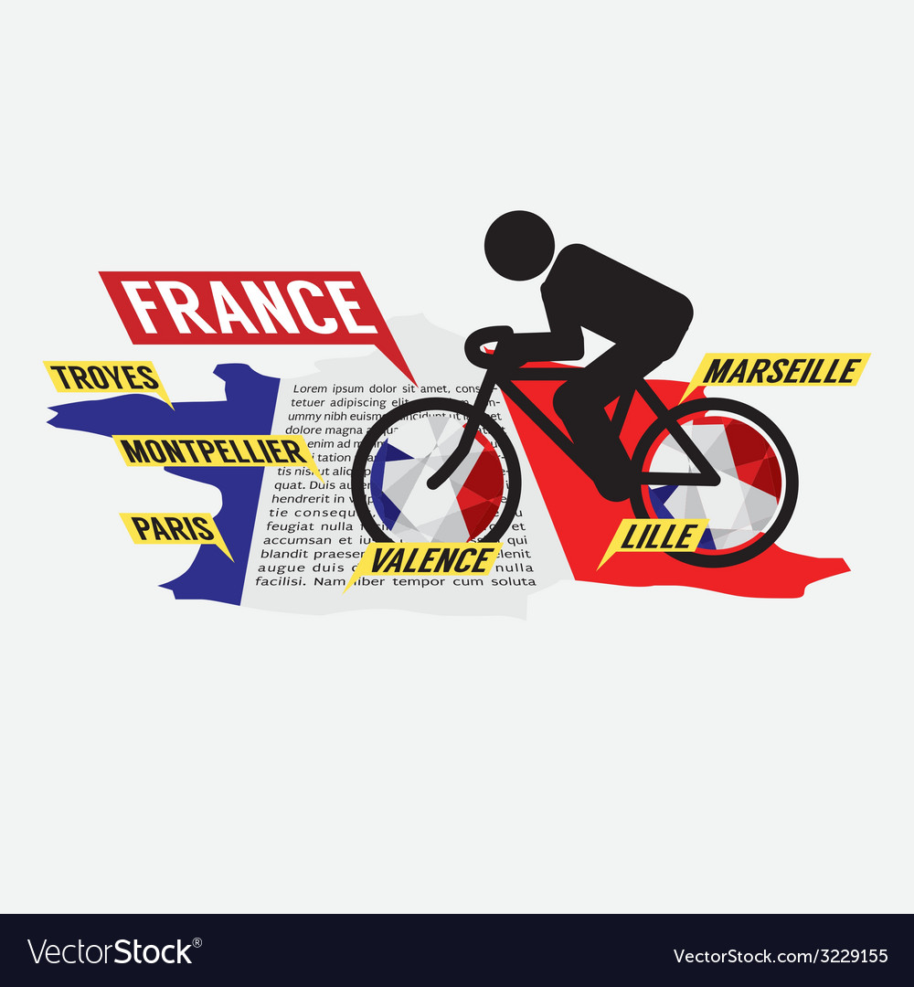 Cycling in france vector | Price: 1 Credit (USD $1)