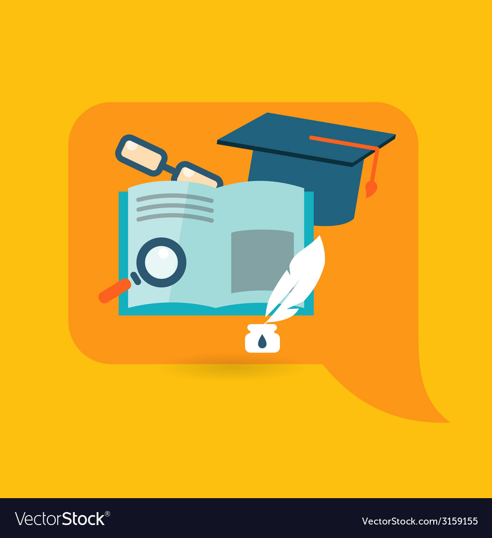 Flat design concept for education vector | Price: 1 Credit (USD $1)