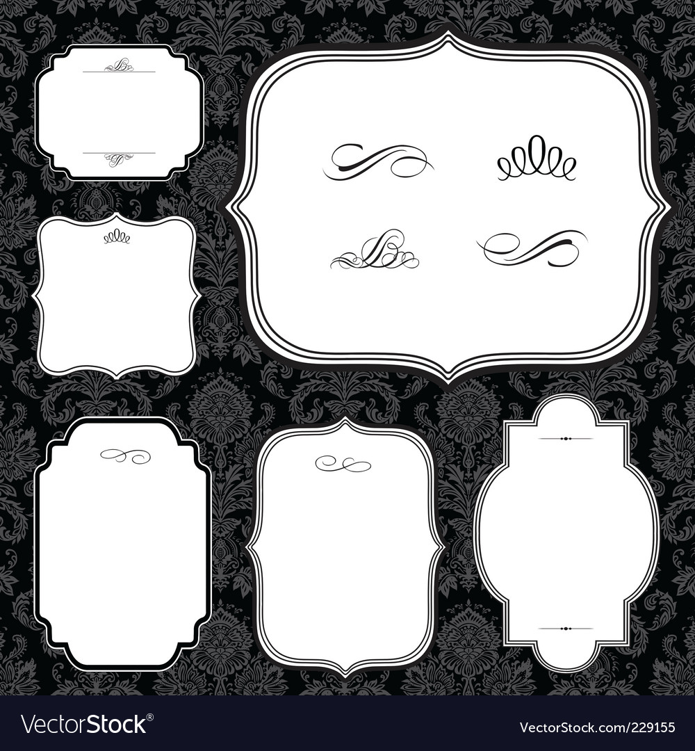 Frames and black pattern vector | Price: 1 Credit (USD $1)