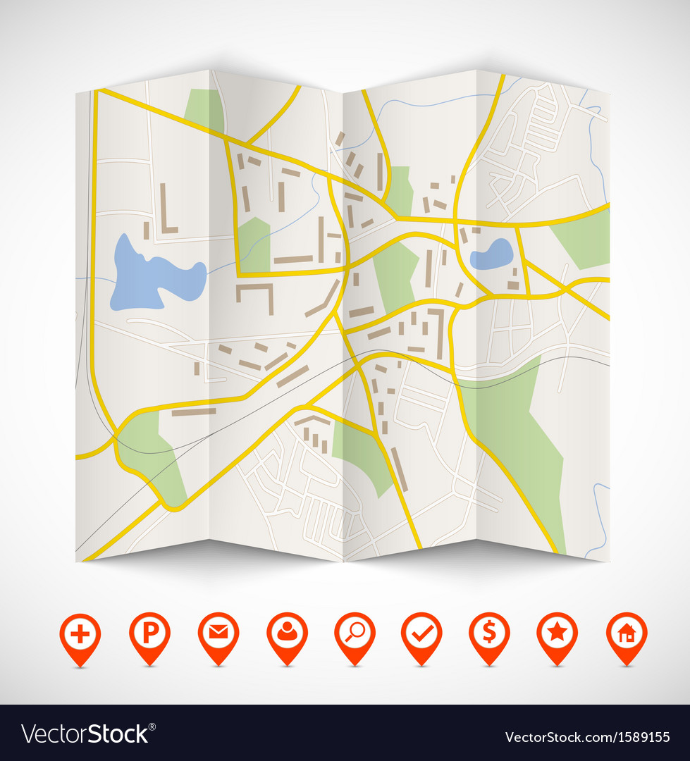Navigation map vector | Price: 1 Credit (USD $1)