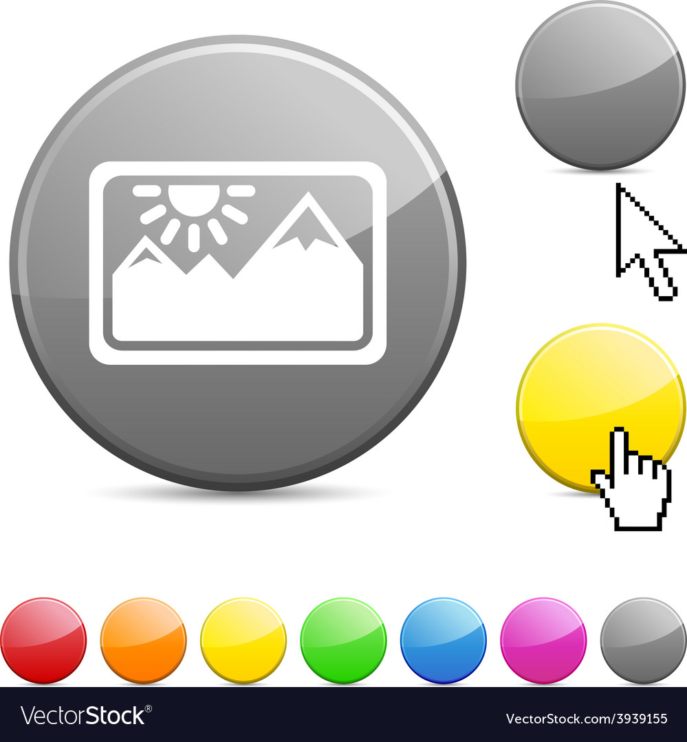 Picture glossy button vector | Price: 1 Credit (USD $1)