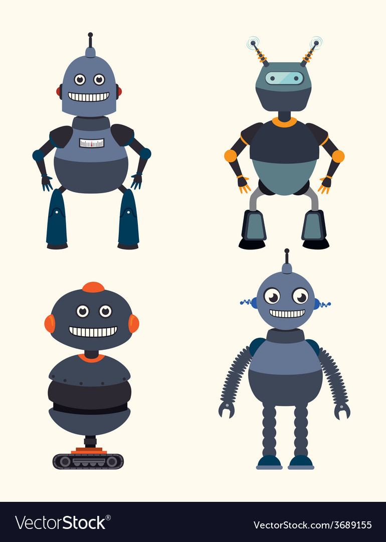 Robot design over white background vector | Price: 1 Credit (USD $1)
