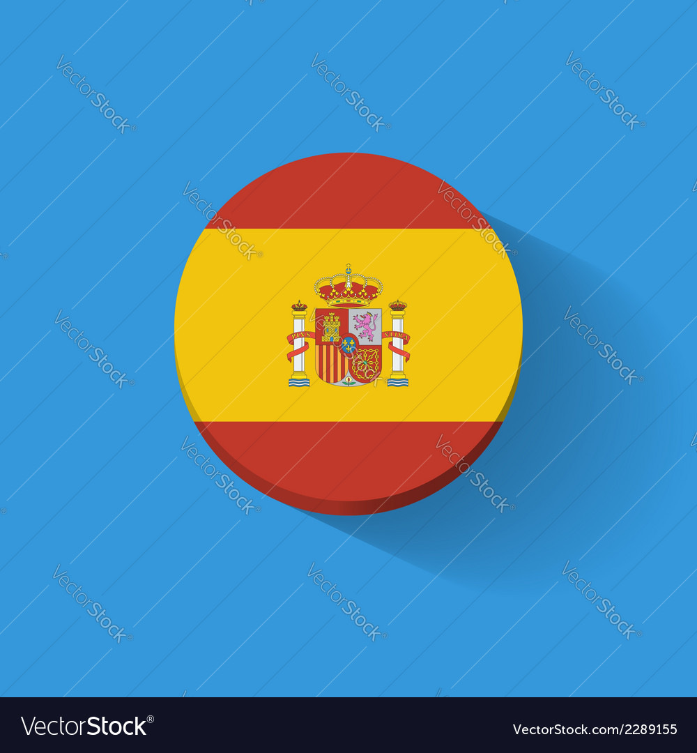 Round icon with flag of spain vector | Price: 1 Credit (USD $1)