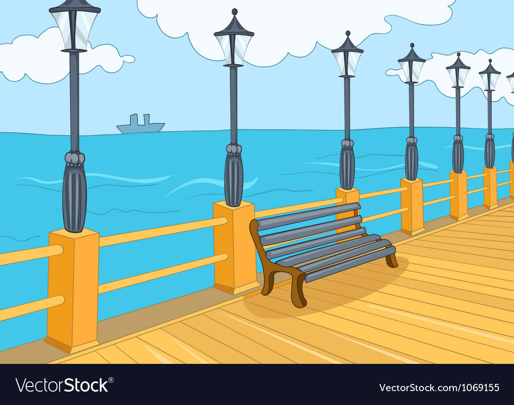 Seafront vector | Price: 1 Credit (USD $1)