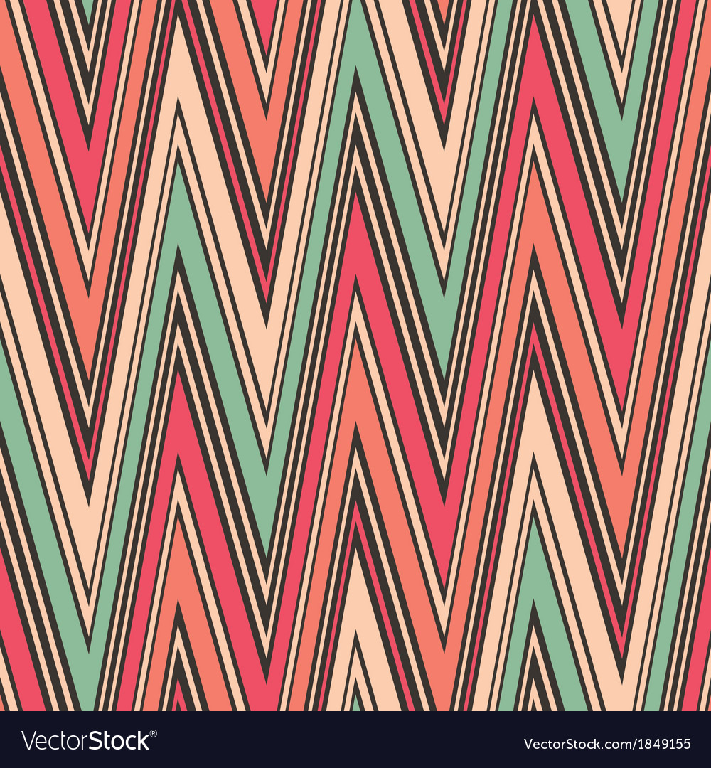 Striped textured zig zag seamless pattern vector | Price: 1 Credit (USD $1)