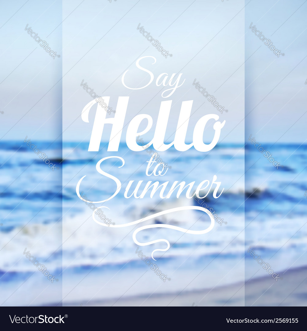 Summer sea background vector | Price: 1 Credit (USD $1)