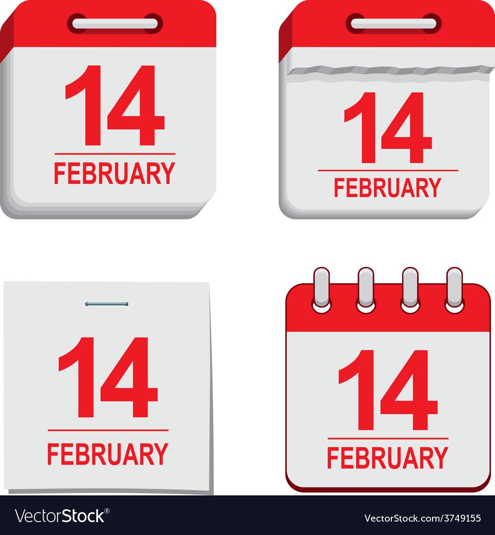 Valentine calendar icon vector | Price: 1 Credit (USD $1)