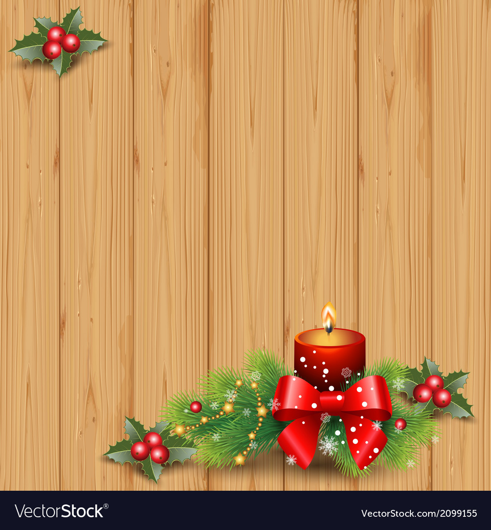 Wood and candle vector | Price: 1 Credit (USD $1)
