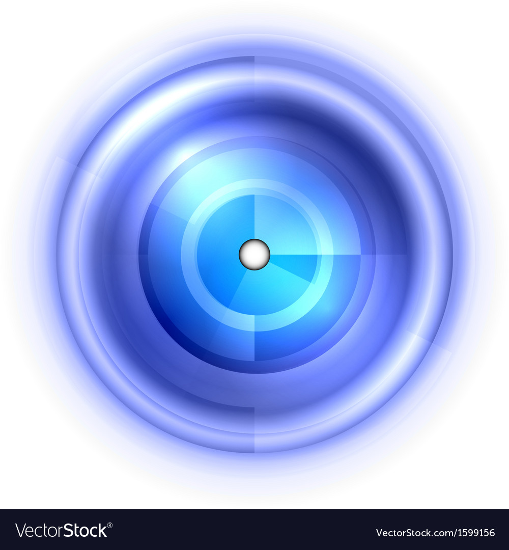Abstract center point blue vector | Price: 1 Credit (USD $1)