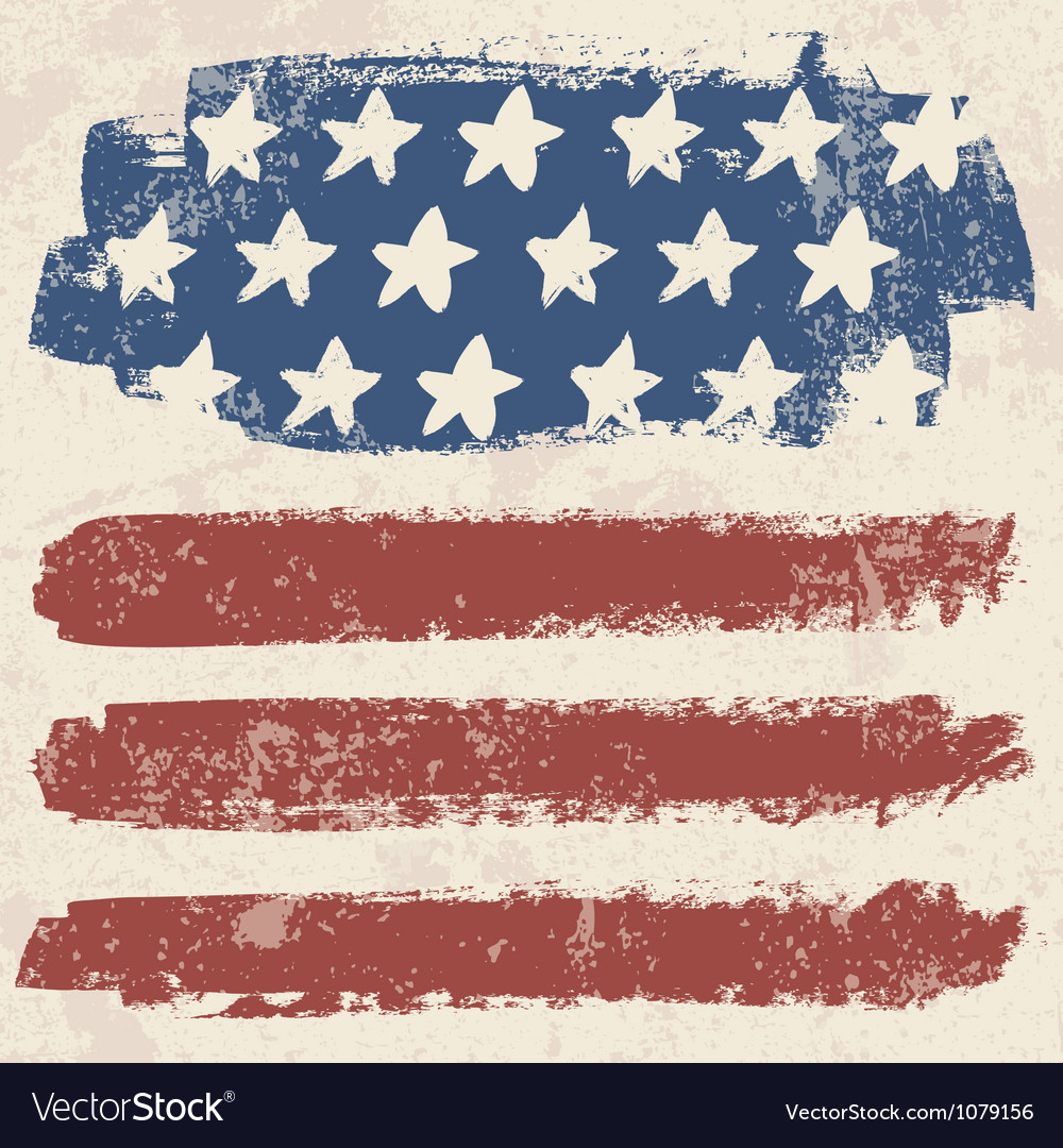 American flag vintage textured background vector | Price: 1 Credit (USD $1)
