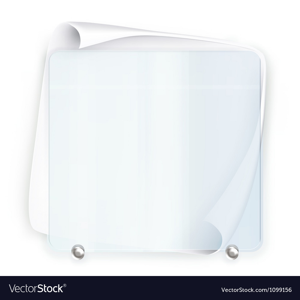 Banner glass vector | Price: 1 Credit (USD $1)