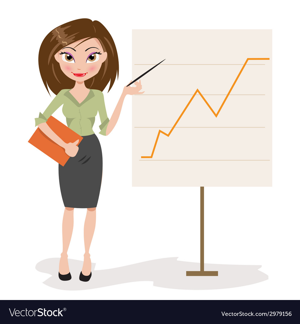 Beautiful business woman vector | Price: 1 Credit (USD $1)